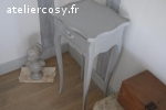 Chevet Louis XV gris